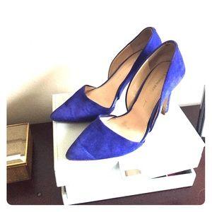Banana republic d'orsay suede blue heels