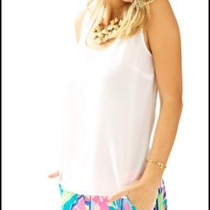 SOLD Lilly pulitzer cosmos sleeveless silk top