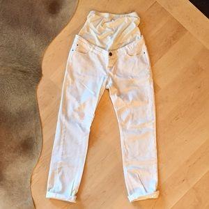 ASOS Maternity Denim - ASOS White Maternity Boyfriend Jeans