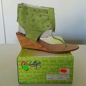 BNWT Green Sandals