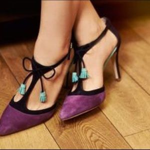 Boden Shoes - Boden Alice Plum Tie Tassel Heels