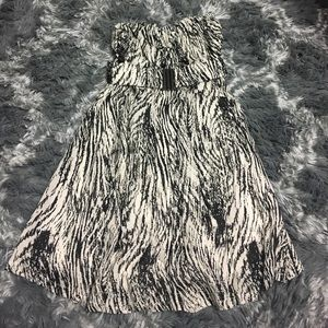 Dresses & Skirts - Black and Ivory dress XS strapless NWT