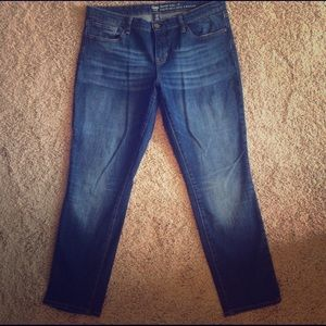 Gap Factory Skinny Roll up Jeans size 14