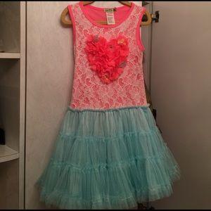 Little Mass Other - Little Mass Dress, Size 5, NWOT, Pink/Blue