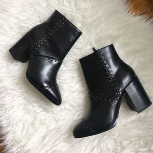 • Report studded chunky heel booties •