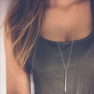 Jewelry - Long Bar Pendant Necklace