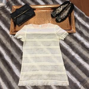 Zara Collection Sheer Lace Tee