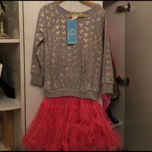 Little Mass Other - Little Mass, NWT, SZ 5, Sweatshirt Dress with tutu