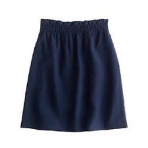 J. Crew Dresses & Skirts - NWT J.Crew 00 Crinkle City Mini Skirt Navy
