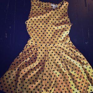 Sans Souci Dresses & Skirts - Yellow polka dot dress