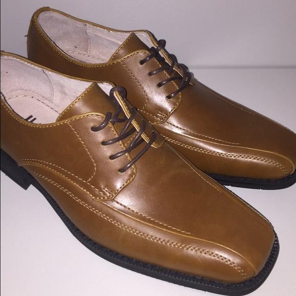 NEW Men s JF Cognac Dress Shoes fd485533006