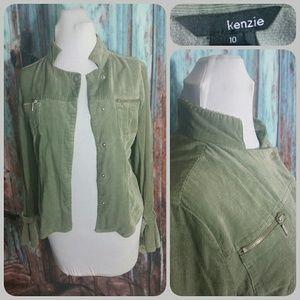 kenzie Tops - KENZIE corduroy shirt
