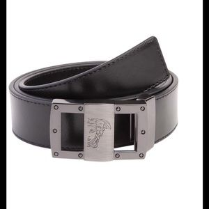 Other - Versace embossed logo leather belt