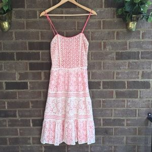 Chelsea & Violet Dresses & Skirts - Pink Lacey Spring Tiered Dress