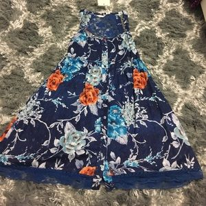 Dresses & Skirts - Summer dress lace blue small NWT