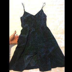 Silk floral printed dress