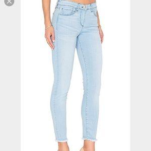 3x1 Denim - 3x1 Skinny Ankle Length Frayed Jeans