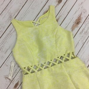 Mustard Seed Dresses & Skirts - Mustard Seed Neon Caged Cut Out Mini Dress