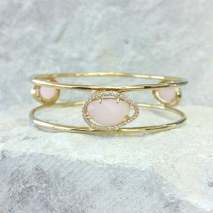 MARCIA MORAN pink quartz gemstone bracelet
