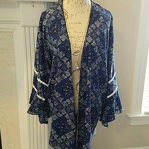 Sweaters - Blue Kimono