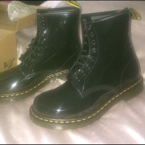 Black Dr. Marten combat boots