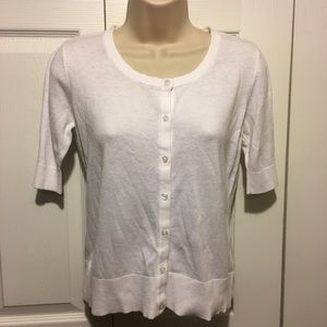 Merona Sweaters - ☑️2 for 10 white short sleeve cardigan