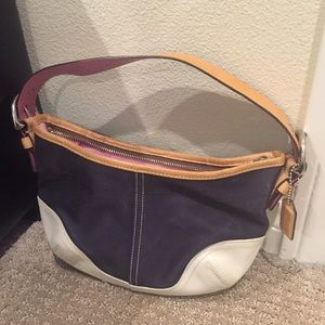 LAST CHANCE Coach Mini Hobo with Pink Interior