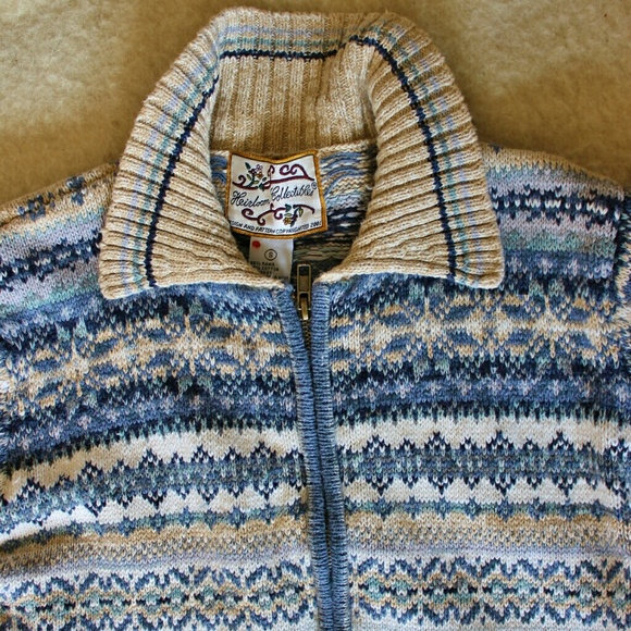 Heirloom Collectibles Sweaters - Fair Isle Sweater, Ramie and Cotton