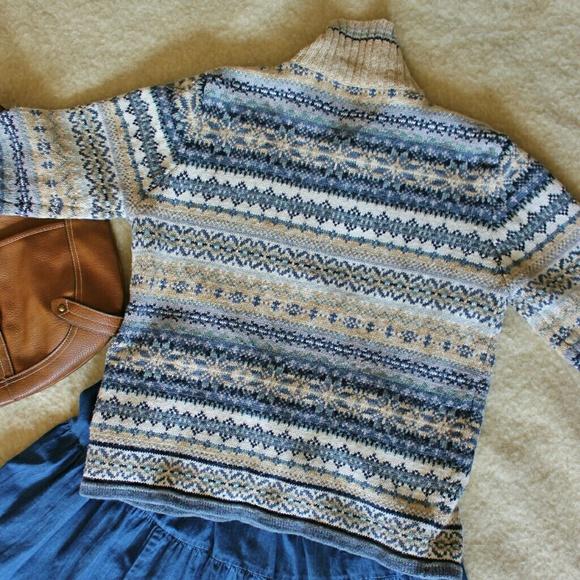 Heirloom Collectibles Sweaters - Fair Isle Zip Up Cardigan