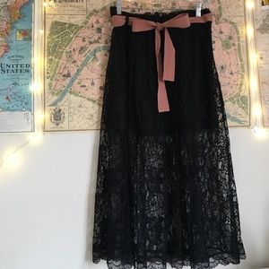 Black lace Urban Outfitters skirt.