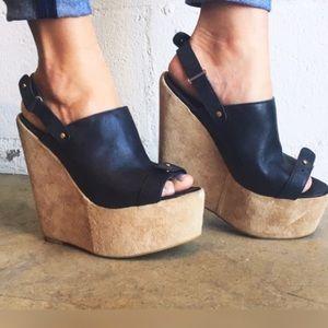 Deena & Oozzy Shoes - Deena & Ozzy Platform Wedge Heels Size 8