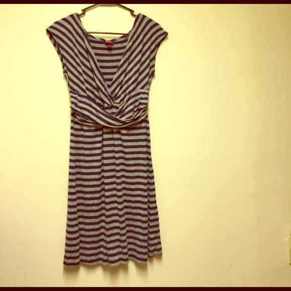 Adorable navy blue and grey striped dress! 95163a5ab
