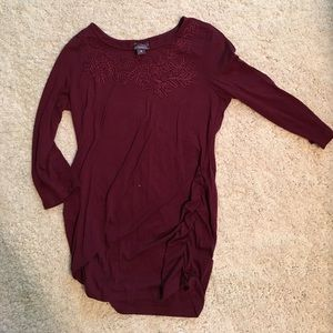 Oh Baby by Motherhood Tops - Burgundy maternity top