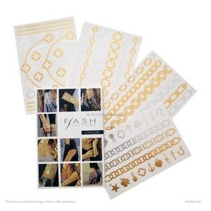 Flash Tattoo Accessories - Set of 2 Flash Tattoos, Chloe. NWT and unopened.