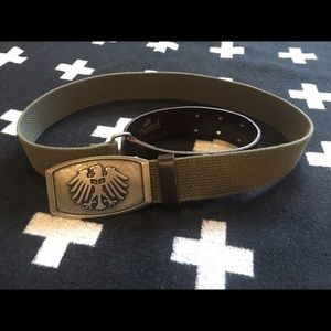 Vestal Accessories - Vestal cotton and leather buckle belt