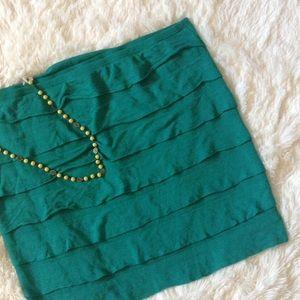 Studio M Dresses & Skirts - Studio M Macy's Green Tiered Skirt L NWOT