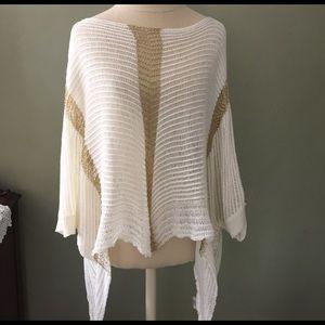 Sweaters - Davi & Dani sleeved poncho