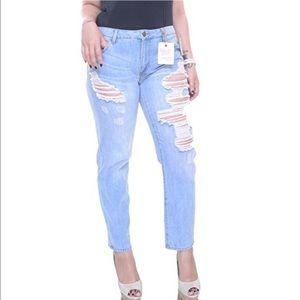 Rachel Roy Denim - Rachel Roy Distressed Boyfriend Jeans