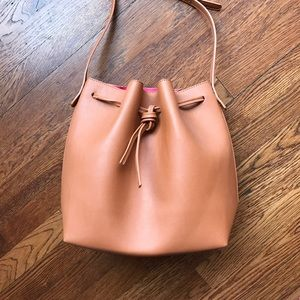Handbags - Brown Faux Leather Bucket Bag SALE