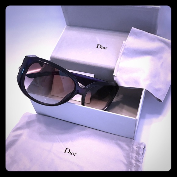 12ac8eb866f62 Christian Dior Accessories - CHRISTIAN DIOR PURPLE SWAROVSKI SUNGLASSES