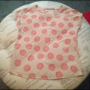 Nordstrom pan and red blouse size M