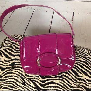 Ann Taylor Handbags - Host pic!! Ann Taylor purple/pink patent bag!!