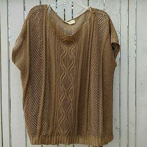 Zara Beige Taupe Knit Sweater Medium Large
