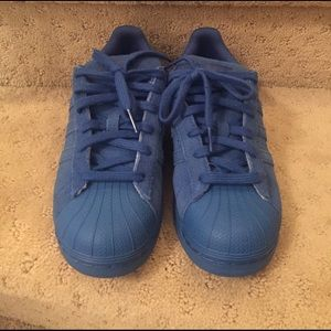 Adidas Shoes - Electric blue adidas superstar sneakers
