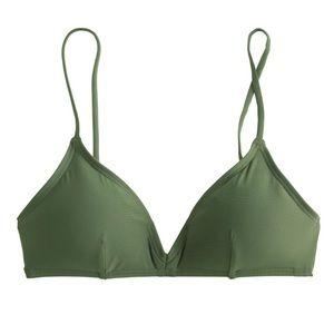 J. Crew Other - Olive green j crew bikini top swimsuit top