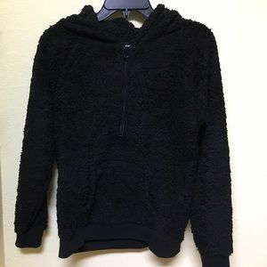 Justice Other - Justice Girls Size 18 Black Fleece Hooded Pullover