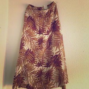 70's Golden Fronds Skirt
