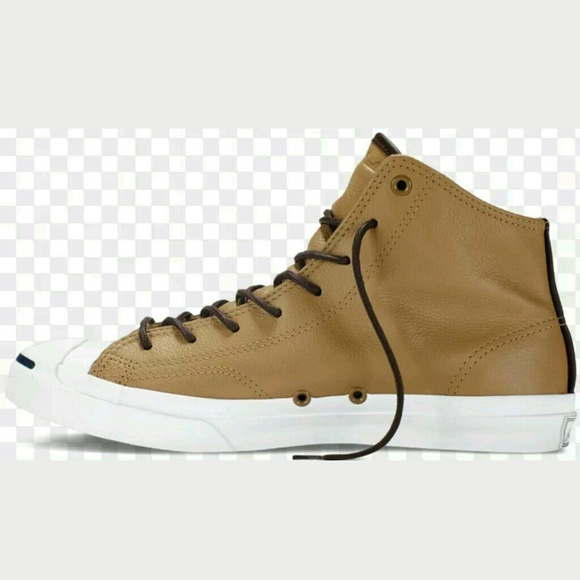 f2dd20085faf Converse Jack Purcell Mid Sand Dune Leather Shoe