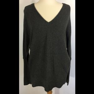 CALIA by Carrie Underwood Sweaters - Calia Effortless Ruched Back Sweater Medium Gray