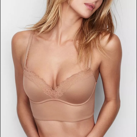 27978484c5b18 Victoria s Secret easy push up wireless bra nude. M 589f993e680278c59d01e96f